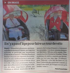 Sorties en vélos triporteurs Rezé Seniors 2020